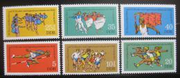 Poštovní známky DDR 1977 Gymnastika a sporty Mi# 2241-46