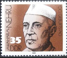 Poštovní známka DDR 1989 Jawaharlal Nehru, indický premiér Mi# 3284