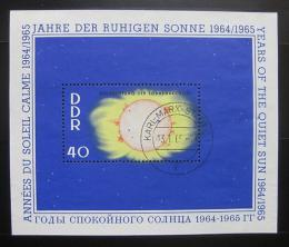 Poštovní známka DDR 1964 Sluneèní aktivita Mi# Block 21