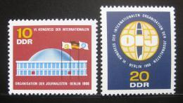 Poštovní známky DDR 1966 Novináøská organizace Mi# 1212-13