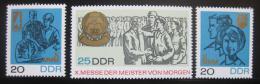 Poštovní známky DDR 1967 Veletrh mládeže Mi# 1320-22