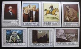Poštovní známky Šardžá 1968 Umìní neperf. Mi# 448-53,455 B Kat 13.50€