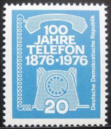 Poštovní známka DDR 1976 Telefon, 100. výroèí Mi# 2118