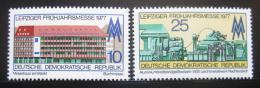 Poštovní známky DDR 1977 Lipský veletrh Mi# 2208-09