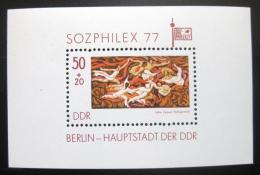 Poštovní známka DDR 1977 SOZPHILEX výstava Mi# Block 48