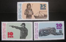 Poštovní známky DDR 1977 Sport a technika Mi# 2220-22