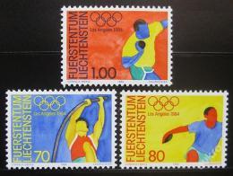 Poštovní známky Lichtenštejnsko 1984 LOH Los Angeles Mi# 846-48 Kat 4€