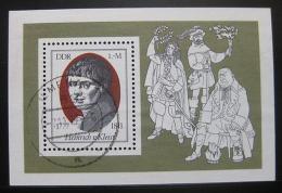 Poštovní známka DDR 1977 Heinrich von Kleist, básník Mi# Block 51