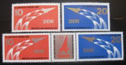 Poštovní známky DDR 1977 Výstava mládeže Mi# 2268-69