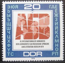 Poštovní známka DDR 1979 Kongres uèitelù ruštiny Mi# 2444
