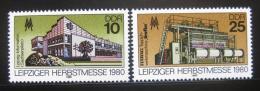 Poštovní známky DDR 1980 Lipský veletrh Mi# 2539-40