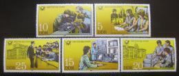 Poštovní známky DDR 1981 Pracovníci pošty Mi# 2583-87