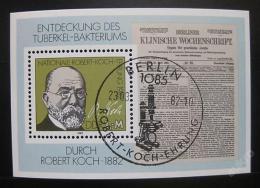 Poštovní známka DDR 1982 Dr. Robert Koch Mi# Block 67