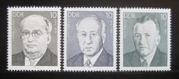 Poštovní známky DDR 1984 Osobnosti Mi# 2849-51