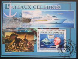 Poštovní známka Komory 2009 Slavné lodì Mi# Block 497 Kat 15€