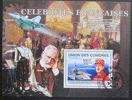 Poštovní známka Komory 2009 Slavní Francouzi Mi# Block 492 Kat 15€