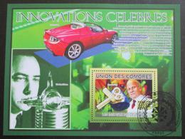 Poštovní známka Komory 2009 Slavné vynálezy Mi# Block 502 Kat 15€