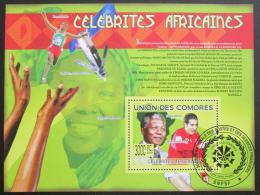 Poštovní známka Komory 2009 Slavní Afrièani Mi# Block 504 Kat 15€