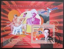 Poštovní známka Komory 2009 Slavní Asiaté Mi# Block 503 Kat 15€