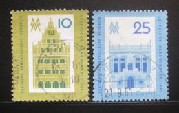 Poštovní známky DDR 1961 Lipský veletrh Mi# 843-44