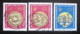 Poštovní známky DDR 1965 Lipský veletrh Mi# 1090-92