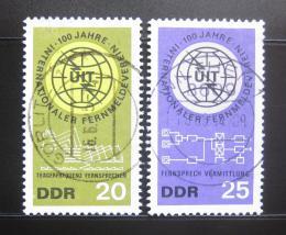 Poštovní známky DDR 1965 ITU, 100. výroèí Mi# 1113-14