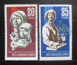 Poštovní známky DDR 1967 Federace žen Mi# 1256-57