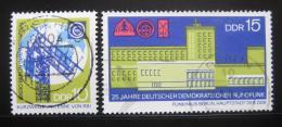 Poštovní známky DDR 1970 Rádiový systém Mi# 1573-74