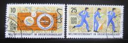Poštovní známky DDR 1970 MS v orientaèním bìhu Mi# 1605-06