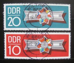 Poštovní známky DDR 1970 Bratøi ve zbrani Mi# 1615-16