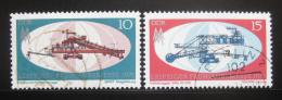 Poštovní známky DDR 1971 Lipský veletrh Mi# 1653-54