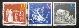 Poštovní známky DDR 1973 Divadlo Mi# 1850-52