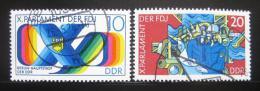 Poštovní známky DDR 1976 Organizace mládeže Mi# 2133-34