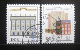 Poštovní známky DDR 1985 Architektura Mi# 2980-81