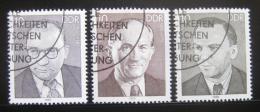 Poštovní známky DDR 1985 Osobnosti Mi# 2920-22
