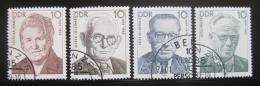 Poštovní známky DDR 1989 Osobnosti Mi# 3222-25