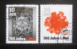 Poštovní známky DDR 1990 Den práce Mi# 3322-23
