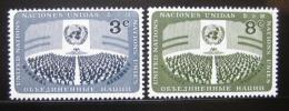 Poštovní známky OSN New York 1956 Den OSN Mi# 51-52