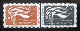 Poštovní známky OSN New York 1957 Den lidských práv Mi# 64-65