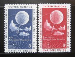 Poštovní známky OSN New York 1957 Meteorologie, WMO Mi# 55-56