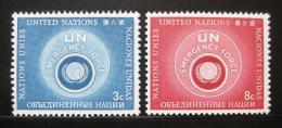 Poštovní známky OSN New York 1957 Pohotovostní síly Mi# 57-58