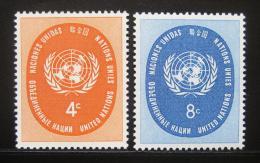 Poštovní známky OSN New York 1958 Emblém OSN Mi# 70-71