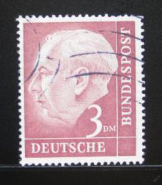 Poštovní známka Nìmecko 1954 Prezident Heuss Mi# 721