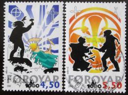 Poštovní známky Faerské ostrovy 2000 Køes�anství Mi# 369-70