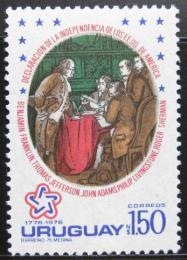 Poštovní známka Uruguay 1976 Americká revoluce Mi# 1413
