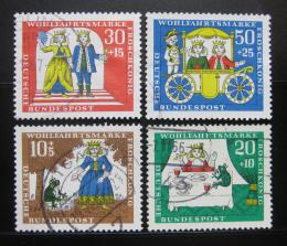 Poštovní známky Nìmecko 1966 Pohádky Mi# 523-26