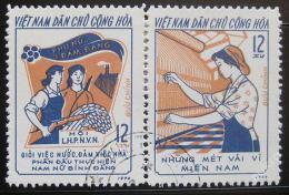 Poštovní známky Vietnam 1974 Hnutí žen Mi# 761-62