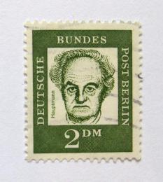 Poštovní známka Západní Berlín 1962 Gerhart Hauptmann Mi# 213 Kat 6.5€ - zvětšit obrázek
