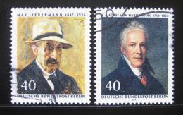 Poštovní známky Západní Berlín 1972 Osobnosti Mi# 434,440