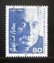 Poštovní známka Západní Berlín 1986 Gottfried Benn, spisovatel Mi# 760